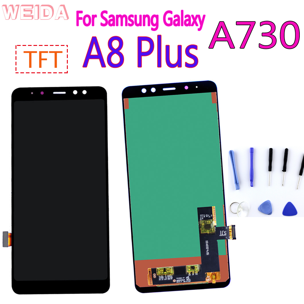 A730 LCD Display For Samsung Galaxy A8 Plus A8+ 2018 Touch Screen Digitizer Assembly For A730F A730F/DS A730x Replacement Parts