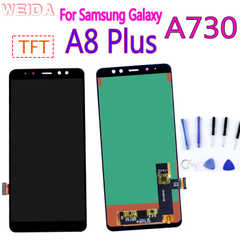 A730 LCD Display For Samsung Galaxy A8 Plus A8+ 2018 Touch Screen Digitizer Assembly for A730F A730F/DS A730x Replacement Parts чехол для samsung galaxy a8 2018 sm a730f ds neon flip cover ef fa730pfegru золотистый