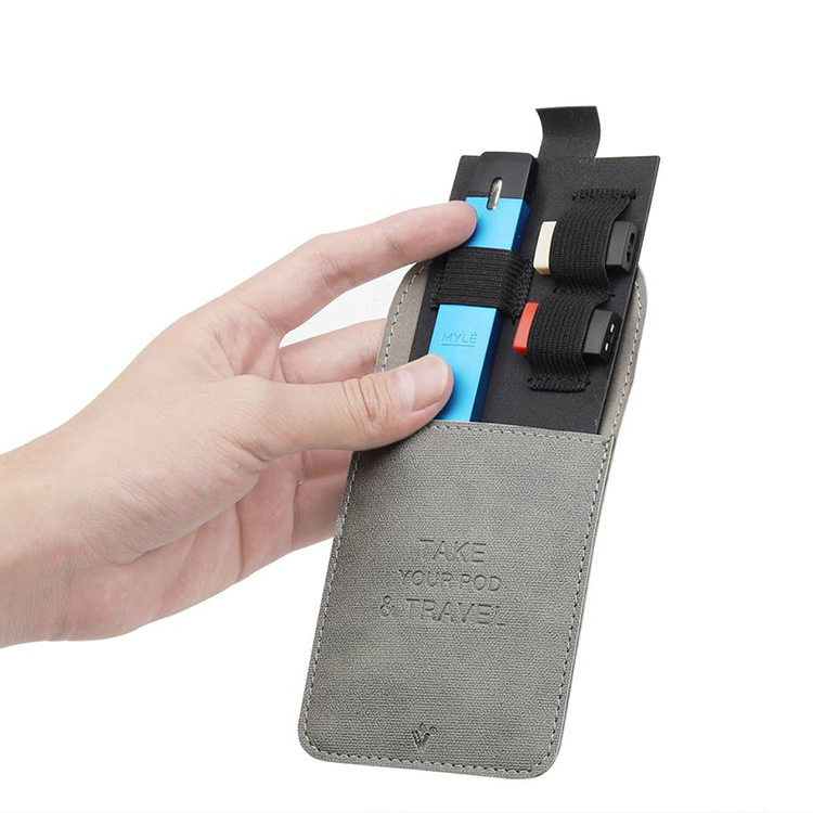 Portable Ultra Thin Mini Slim Leather Wallet Pocket For JUUL Carrying Pouch Pods Storage Bag For MYLE Pod System Vape Pen Kit