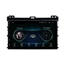 Четырехъядерный Android 8,1 подходит для TOYOTA PRADO Land Cruiser 120 2003-2010 мультимедийный стерео автомобильный dvd-плеер навигация gps радио