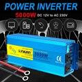 Reine Sinus Welle Inverter DC 12v Zu AC 220v Power 2000W 3000W 5000W Volt Konverter transformator Auto Inverter Led-anzeige Solar