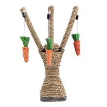 Cat Climbing Tree Tower Shelves Frame Cat Scratcher Scratching Sisal Rope Interactive Play Toy Straw Cat Climbing Frame(China)