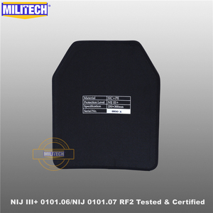 Image 3 - MILITECH SIC & PE NIJ III + 0101.06/NIJ 0101.07 RF2 10X12กระสุนแผ่นNIJระดับ3 + Stand Alone BallisticแผงAK47 & SS109 & M80
