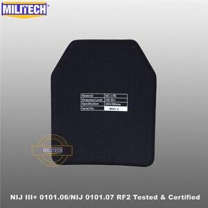 Image 3 - MILITECH SIC&PE NIJ III+ 0101.06/NIJ 0101.07 RF2 10x12 Bulletproof Plate NIJ Level 3+ Stand Alone Ballistic Panel AK47&SS109&M80