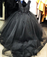 Black Dresses for Girl Baby Girl Clothing 1 Year Birthday Party Toddler Christening Gown Infant Girl Dress