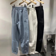 Autumn And Winter Models Of Solid Color Letter Printing Bouquet Feet Sports Nine Minutes Pants Thin Loose Casual Pants WomenA168