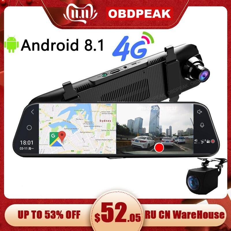 רכב DVR A980 4G אנדרואיד 8.1 ADAS 10