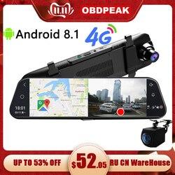 Auto Dvr A980 4G Android 8.1 Adas 10 Streamen Media Dash Cam Camera Auto Camera Recorder Dvr Dashcam gps Navigatie 1080P Wifi