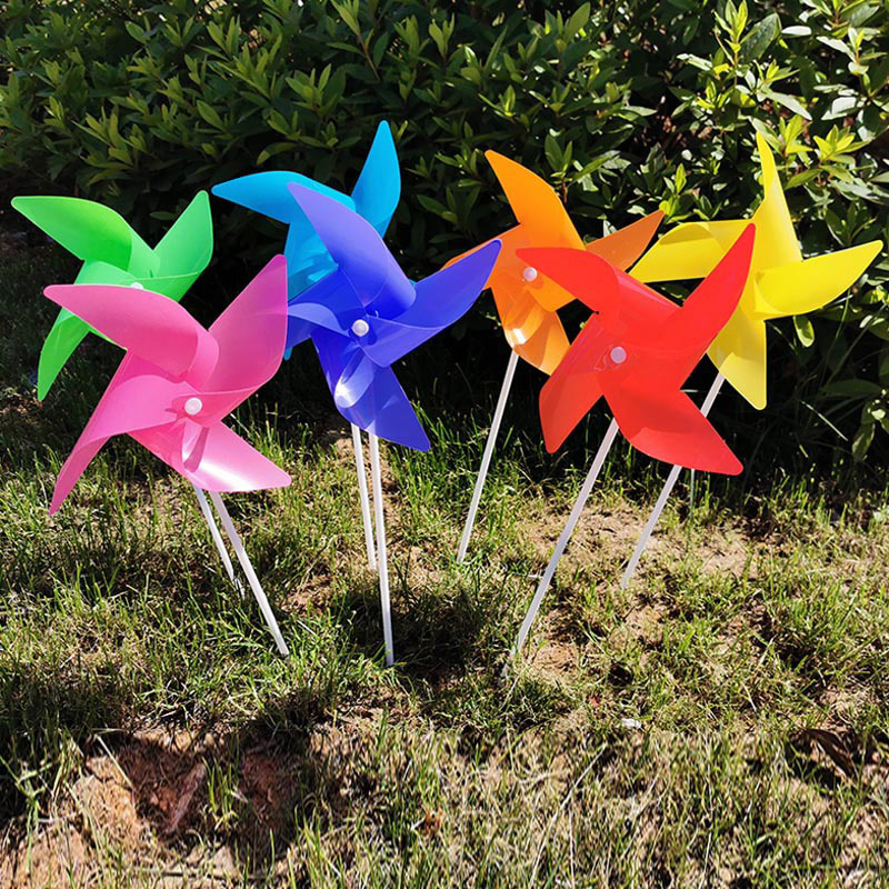 100pcs/lot L size 24cm windmill with stick garden Yard Art decoration  Random mixed color pinwheels toy DIY gift for kids|Windmill| - AliExpress