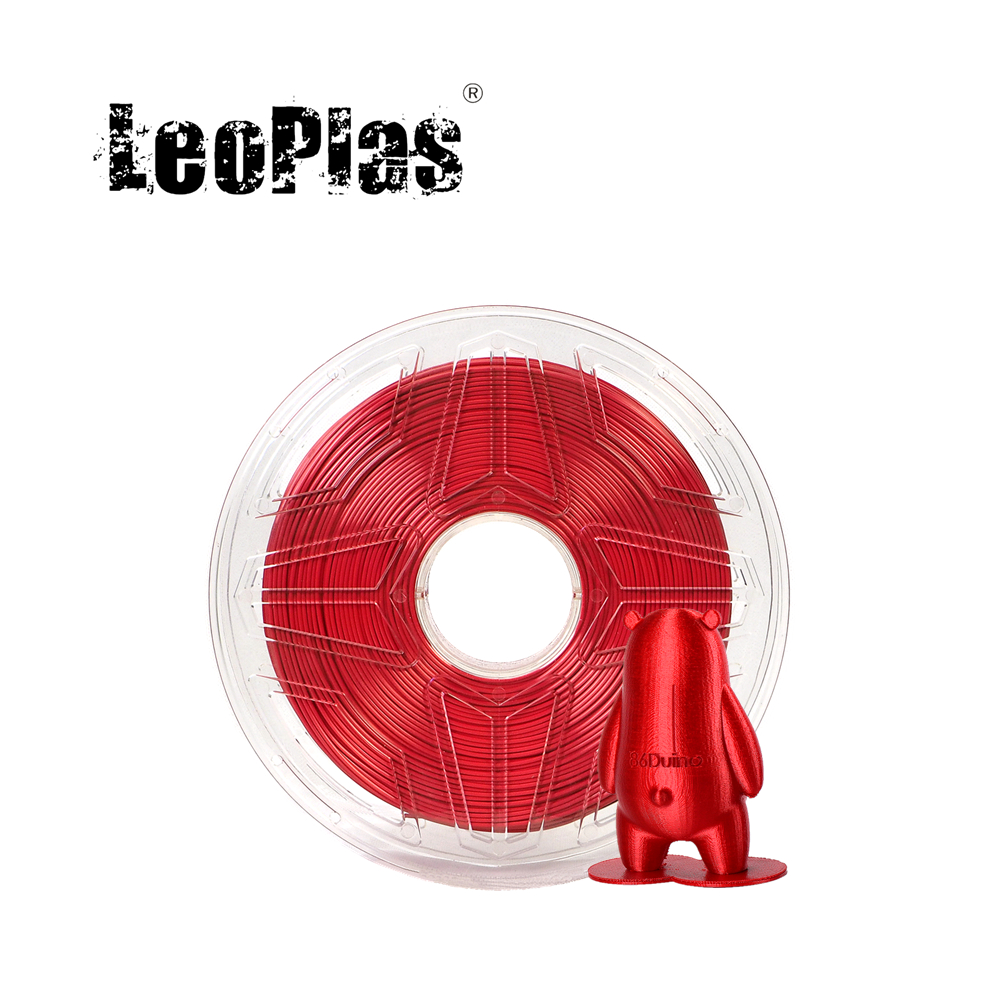 LeoPlas 1kg 1.75mm Shining Metal Red Silk PLA Filament For FDM 3D Printer Pen Consumables Printing Supplies Plastic Material