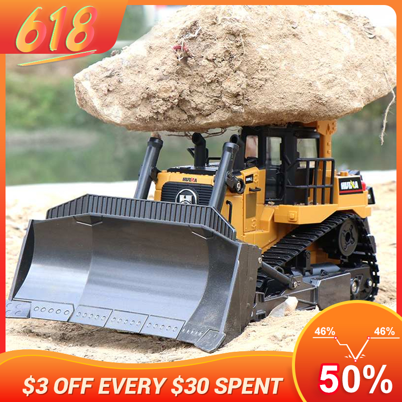 LBLA 1569 Remote Control Truck 8CH RC Bulldozer Machine on Control Car Toys for Boys Hobby Engineering New Christmas Gifts