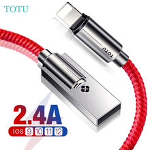 TOTU zinc alloy USB cable for iphone X 8 7 6 s fast charging iPhone 5S SE iPad line phone mobile