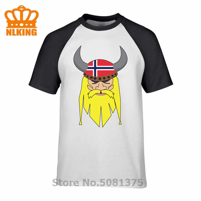 النرويجية فايكنغ مع علم النرويج تي شيرت كأس اوروبا النرويج العلم الوطني تصميم القمصان الرجال البنطال القصير المحملة الحنين مذهلة