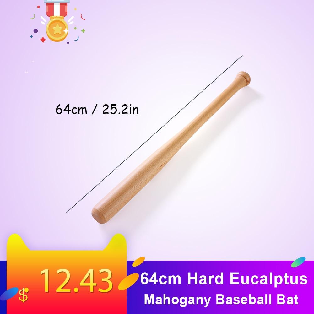 64cm Hard Eucalptus Mahogany Baseball Bat Solid Wood Bar Wooden Stick  Baseball Accessiors