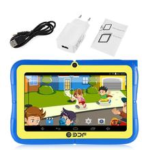 7 inch Screen ARM Quad Core 1.3GHz for Android Wifi Dual Camera Mini Children Kids Tablet PC Leaning Educational Toys(China)