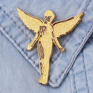 Музыкальная брошь Nirvana, брошь в форме Ангела из тяжелого металла, подарок для болельщиков из тяжелого металла