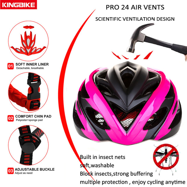 Rosa fosco bicicleta ciclismo capacete in-mold capacete da bicicleta casco capacete da bicicleta hombre mtb esporte protetor capacete ce casco 3