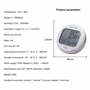 Image 3 - AZ7788 Indoor air quality monitor CO2 detector tester meter gas detector Thermometer hygrometer humity CO2 monitor gas Analyzer
