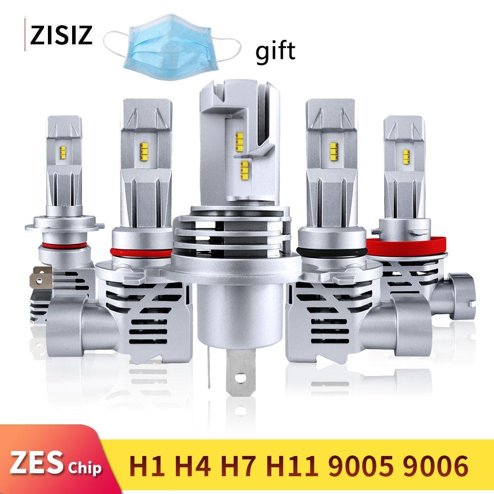 Mini LED H4 H7 H11 9005 HB4 HB3 9006 H8 H9 ZES Chip Bulb Canbus Car Headlight 55W 6000LM 6000K Led Light Fog Lamp 24V automotivo