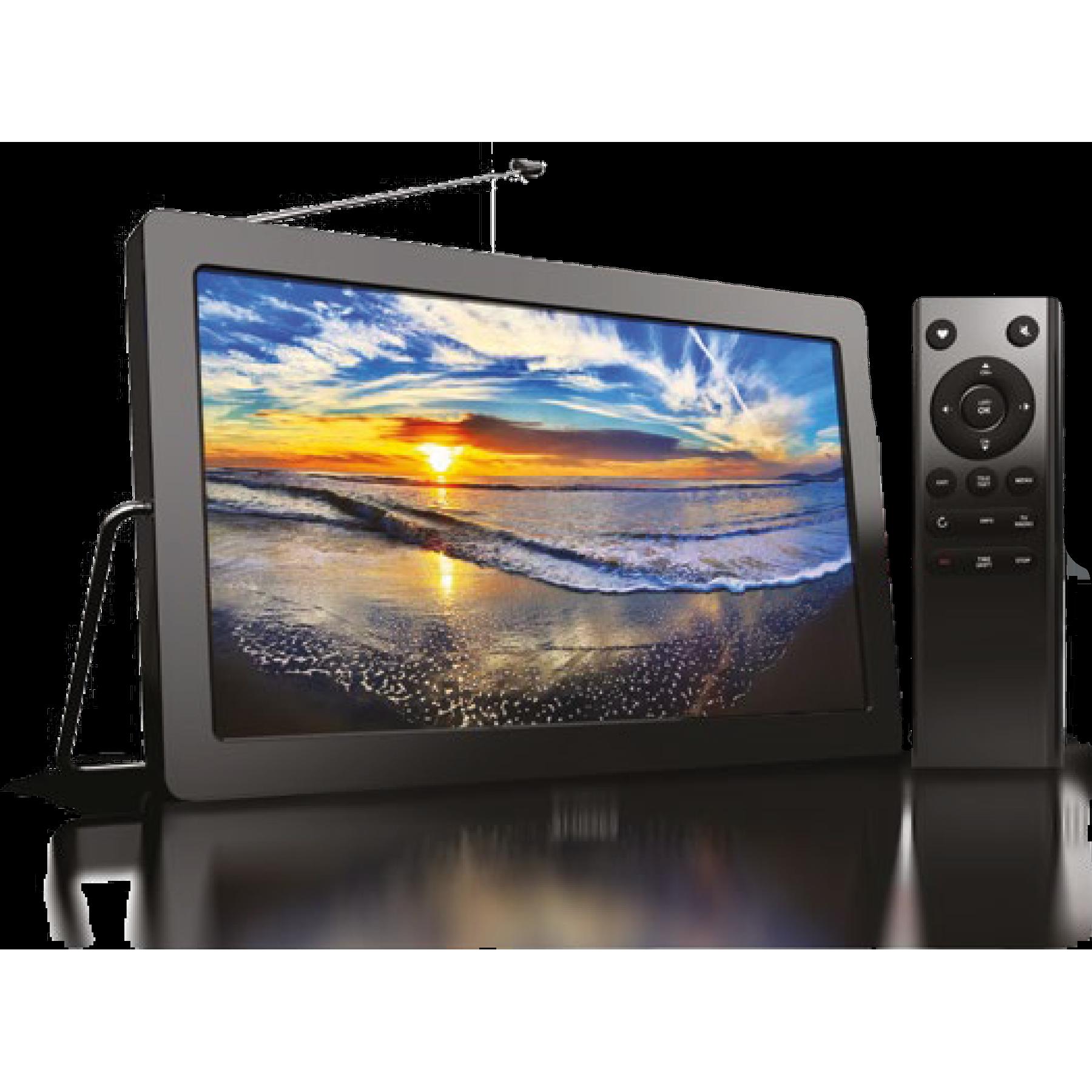 "Телевизор портативный MEZZO 9XLF7T01T2 экран 9"", DVB-T2, батарея 4000мАч на 4-5 часов, пульт, режим приставки с HDMI выходом."