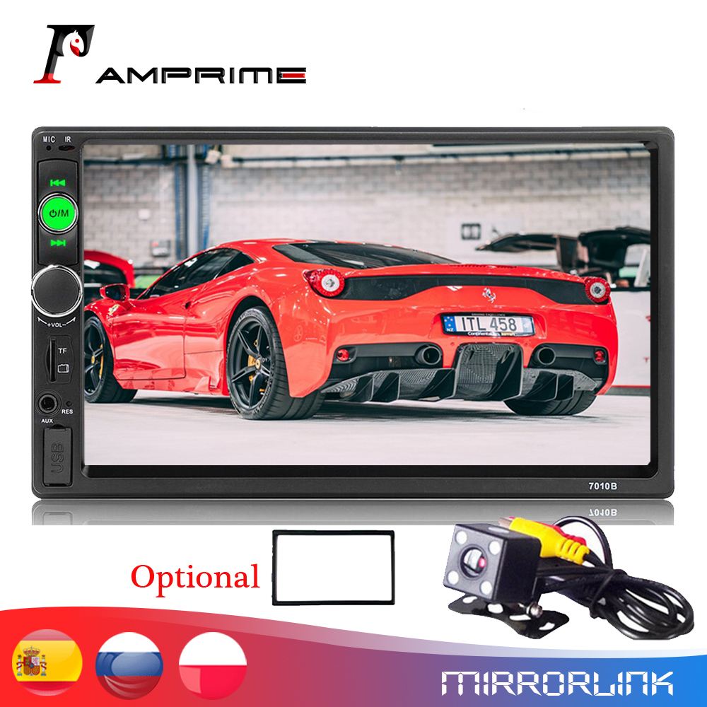 """AMPrime 2 din car radio 7"""" HD Player MP5 Touch Screen Digital Display Bluetooth Multimedia USB 2din Autoradio Car Backup Monitor-in Car Multimedia Player from Automobiles & Motorcycles"""