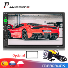 """Автомагнитола AMPrime, мультимедийный MP5 плеер с 7 """"сенсорным экраном, Bluetooth, USB, монитором заднего вида, типоразмер 2 din"""