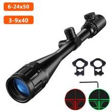 6 24x50 3 9x40 Hunting Optics Verstelbare Green Red Dot Jacht Licht Tactische Scope Richtkruis Optische Rifle Scope Met 11Mm/20Mm