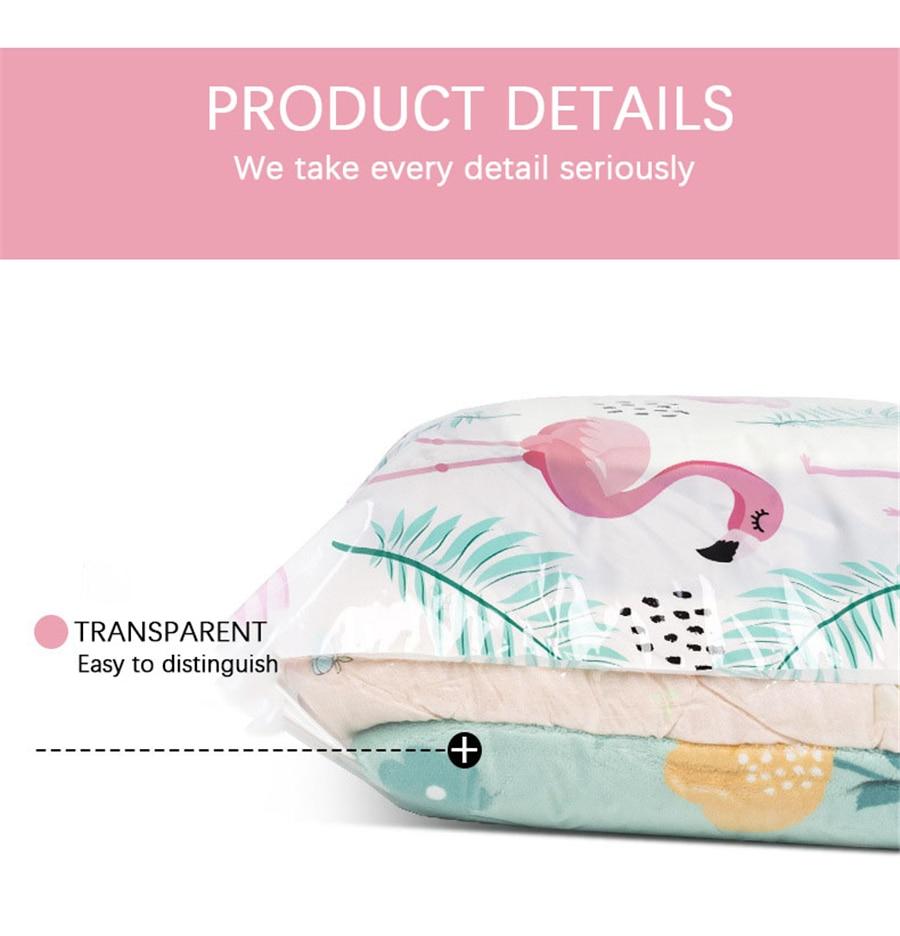 5 шт. в наборе, вакуумная сумка для хранения, органайзер для дома, складной, стеганый мешок для хранения, сжатый для экономии места в путешествии, сумки, посылка
