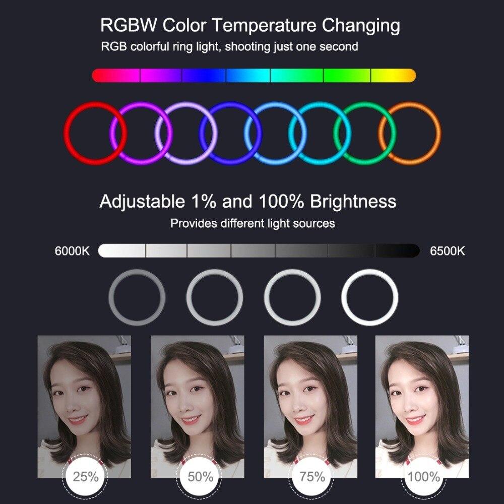 cheapest Universal Selfie Ring Light with Flexible Mobile Phone Holder Lazy Bracket Desk Lamp LED Light for Live Stream Office Kitchen