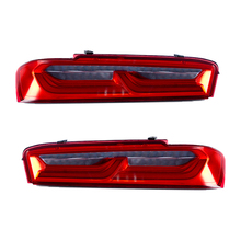 цены на Car Led Taillight For Chevrolet Camaro  2016 2017 2018 6th Camaro Tail lights Rear Lamp Red Smoke Lens Dynamic turn signal  в интернет-магазинах