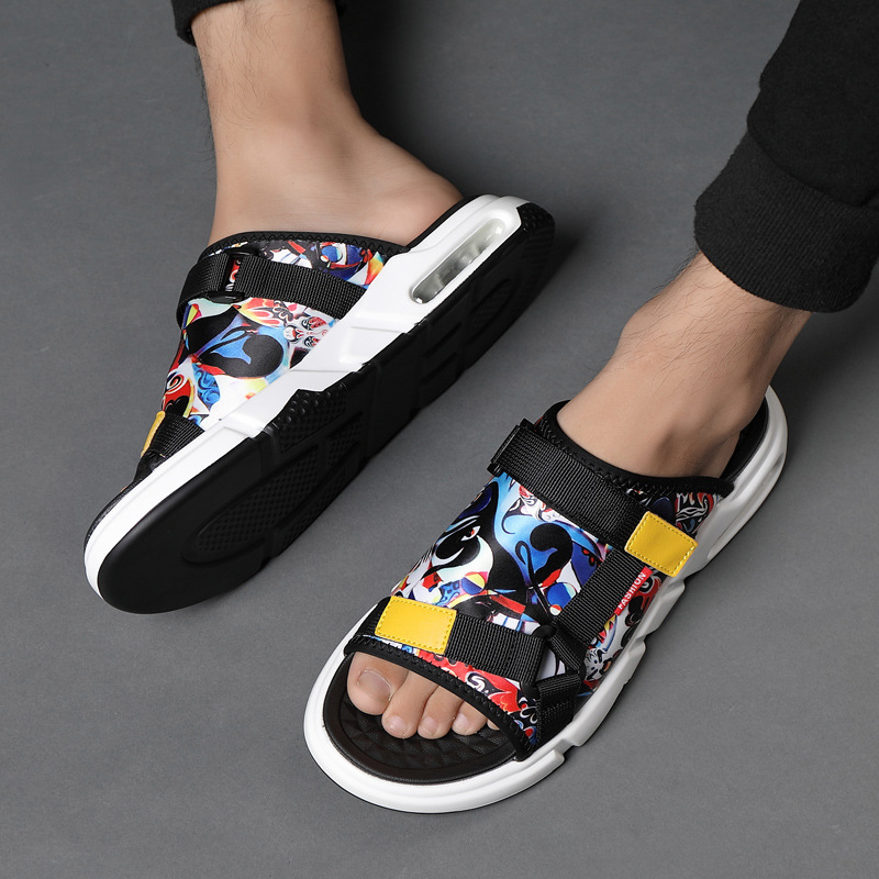Fashion Trend New Sports Slippers Shoes Men Comfortable Men Sneakers Beach Air Cushion Outdoor Sandals Men Slippers