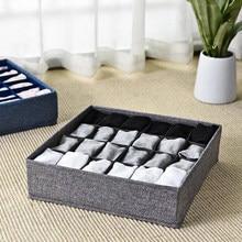 24 grilles Dortoir organisateur de placard pour chaussettes tiroir de salle de bains organisateur maison séparés boîte de rangement lingerie pliable organizador