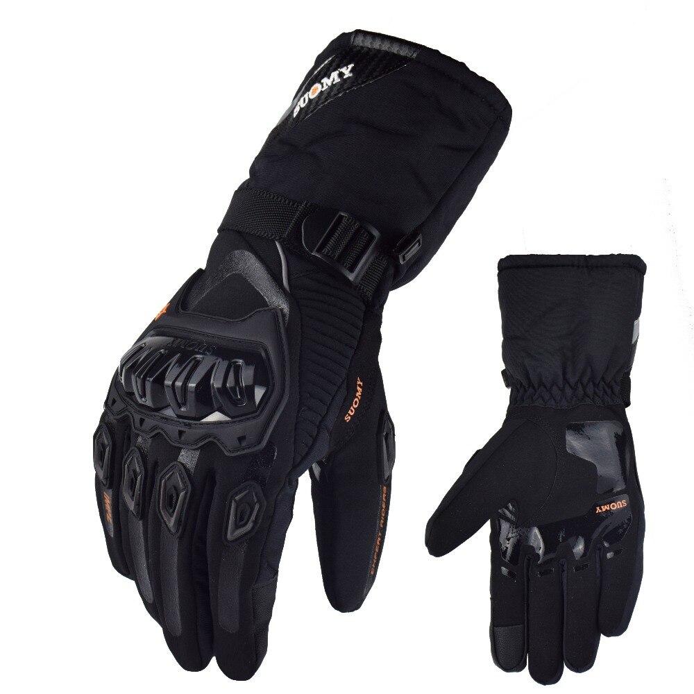 Guantes de Pantalla t/áctil Motocicleta Impermeable y c/álida Guantes de Moto Guantes de Dedo Completo Guantes de Moto de Invierno para Hombres