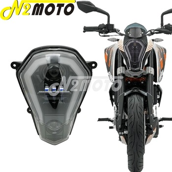 For KTM Duke 125 200 250 390 11-16 LED Headlight Replacement High Low Running Light Turn Signal Auxiliary Integrated Light Kit image