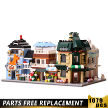 4-in-1 LEegooed City Building Blocks Streetscape Bricks Coffee Shop/Wedding shop/Flower Shop/Pet Shop Building Bricks city series pet flower shop guildhall city hall cinema bank bricks action building blocks children gift toys decool 1105 1109