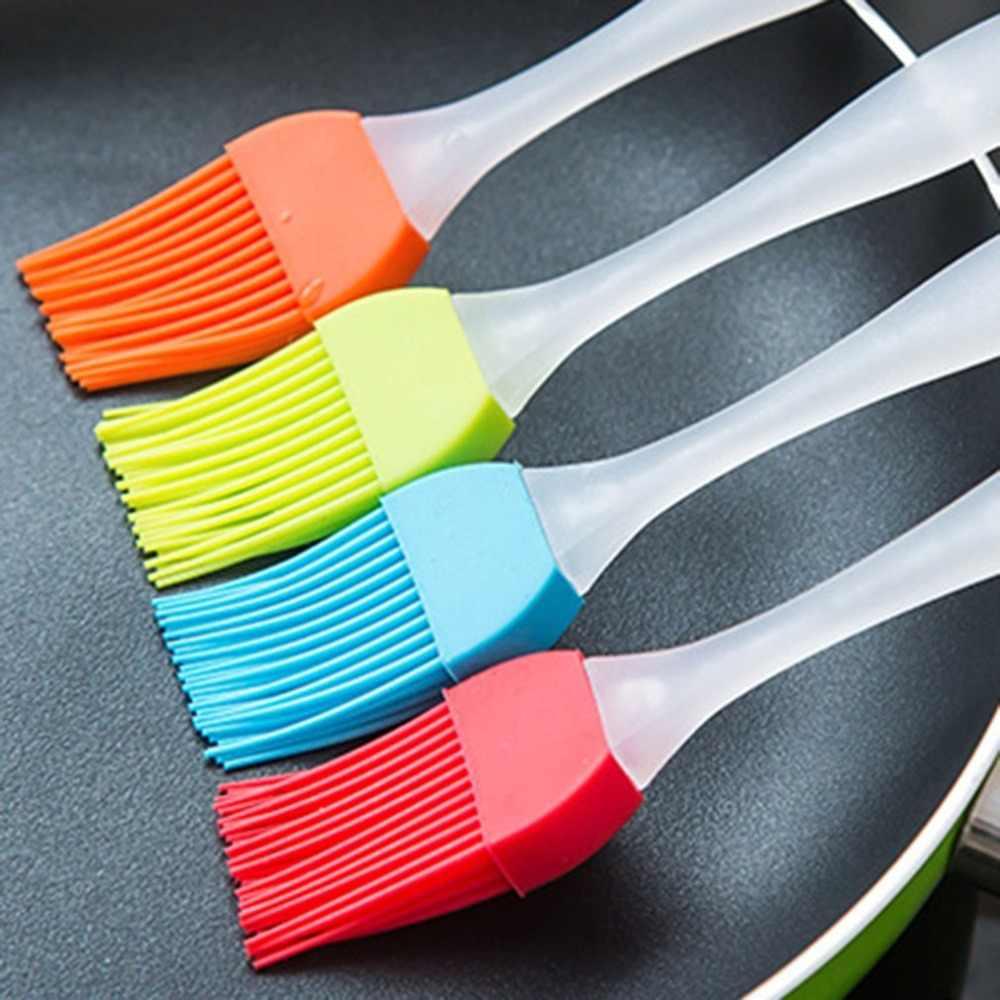 Fácil de limpiar utensilios de cocina de silicona suave para hornear pan cocinar crema de repostería herramientas de barbacoa pincel de mezcla utensilios de cocina
