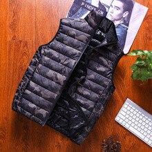 Vest Parka Men New Stylish 2019 Autumn Winter Warm Sleeveless Jacket Army Camouflage Waistcoat Plus Size 4XL Men's Coats