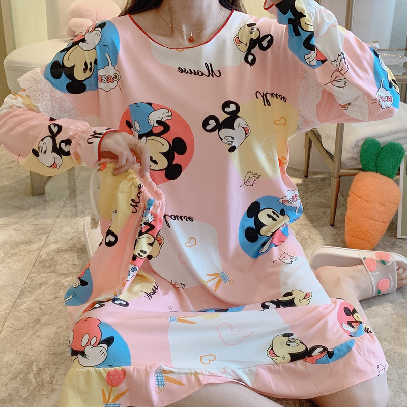 Wechat Business Hot Selling Korean-style Sweet Cloth Bag Two-Piece Pajamas Women Tracksuit YSD #1305 #-1306 # Collection
