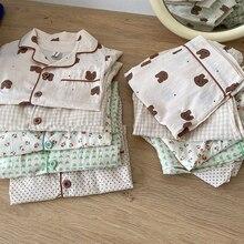 MILANCEL 2021 Summer New Kids Pajamas Korean Print Suit for Boys and Girls Casual Cotton Sleepwear