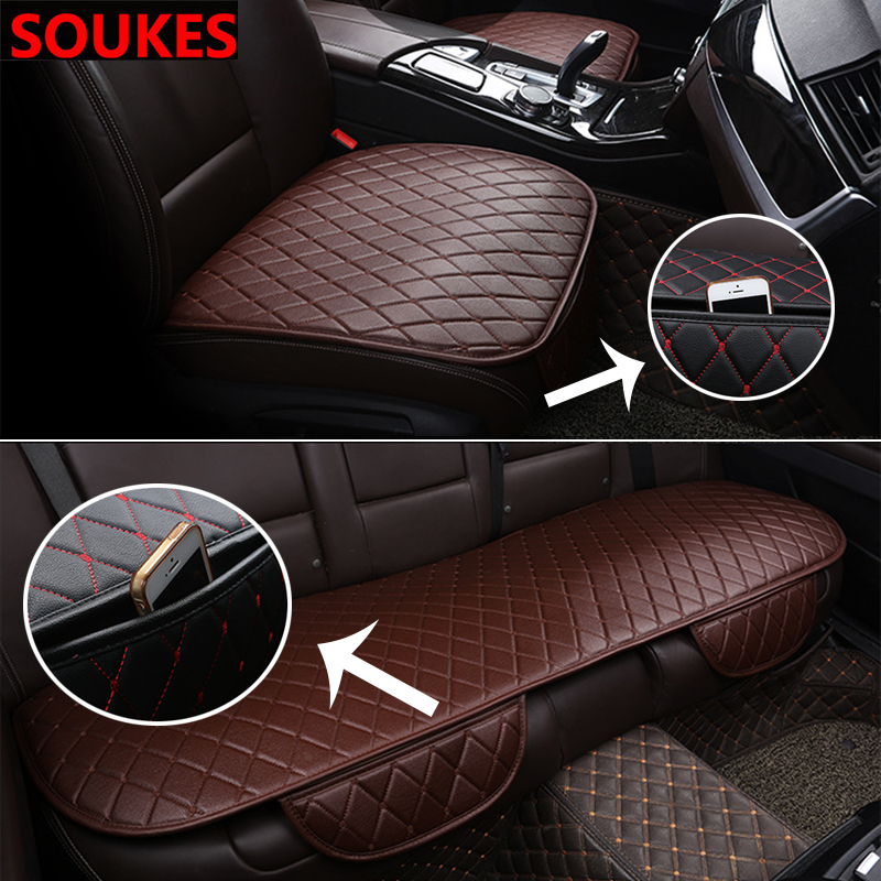 Upgraded Car Front Rear Seat Cover For Fiat 500 Abarth Mercedes W176 W204 W210 CLA E BMW E60 E36 E34 E90 Storage bags image