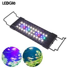 LEDGLE 11W 44Leds Aquarium Light Compact Fish Tank Lamp Splash-proof Aquatic Plant 31-45CM Extensible LED Grow Lights