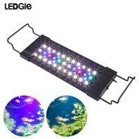 LEDGLE 11W 44Leds Aquarium Light Compact Fish Tank Lamp Splash proof Aquatic Plant Lamp 31 45CM Extensible Fish LED Grow Lights