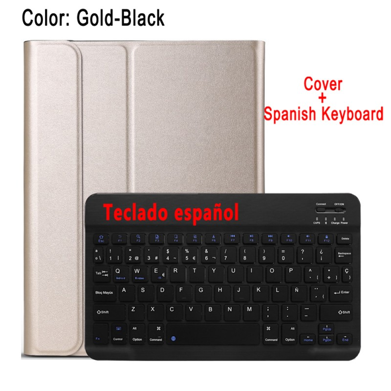 Spanish Keyboard Beige Case Keyboard For Apple iPad 10 2 2019 7 7th 8th Gen Generation A2197 A2200 A2198