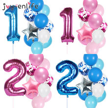 Воздушный шар с цифрами 40 дюймов 12 шт