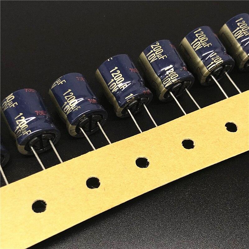 10pcs 1200uF 10V FC Series 12.5x15mm Low Impedance Original 10V1200uF Aluminum Electrolytic Capacitor