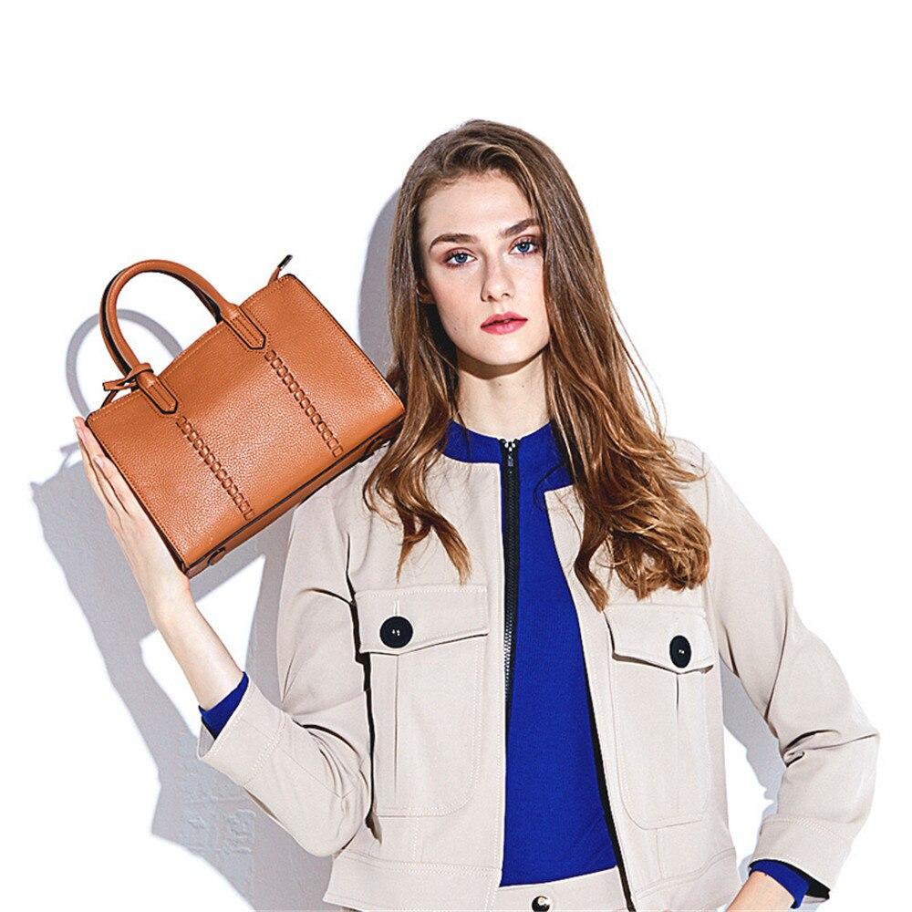 2019 Fashion Women's Luxury Leather Clutch Bag Genuine Leather Ladies Handbags Brand Women Messenger Bags Famous Tote Bag