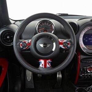 Image 5 - Dla Mini Cooper pokrywa koła kierownicy akcesoria do dekoracji wnętrz naklejki dla R55 R56 R57 R58 R59 R60 JCW Clubman Countryman