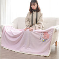 Home Carpet Office Blanket Single Flannel Blanket Thin Section Summer Coral Fleece