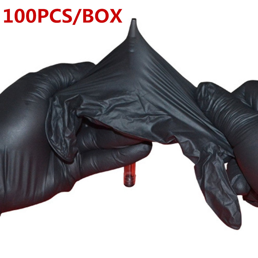 New Optional Gloves 20~100 Pcs Black Blue Disposable Latex Gloves For Home /Food/Rubber/Garden Cleaning Universal Gloves
