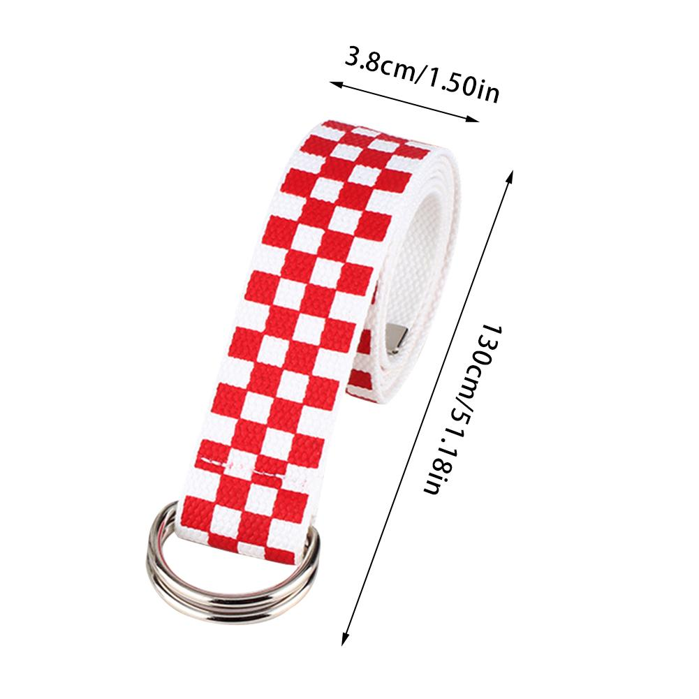 Hot Canvas Belts Canvas Waist Belts Checkerboard Casual Checkered Waistband Black White Plaid Belt For Women Fanny Band
